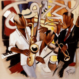 Jazzy music Prints by Pierre Farel