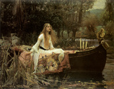 Lady of Shalott Lmina por John William Waterhouse