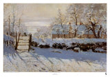 La Pie, Effet de Neige Print by Claude Monet
