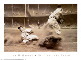 Joe DiMaggio Sliding into Third Plakater