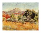 Le Mont Sainte Victoire Art by Pierre-Auguste Renoir