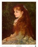 Mademoiselle Irene Print by Pierre-Auguste Renoir