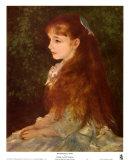 Mademoiselle Irene Print by Pierre-Auguste Renoir