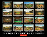 Major League Ballparks: National League Kunst av Ira Rosen