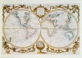 Världskarta, engelska Posters