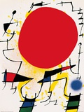 Le soleil rouge Posters par Joan Mir&#243;