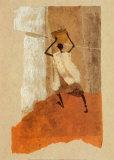 Mann mit Kalebasse Poster von Charlotte Derain