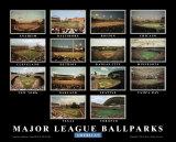Major League Ballparks: American League Poster by Ira Rosen