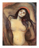 Madona, cerca de 1895 Posters por Edvard Munch