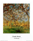 Springtime Posters by Claude Monet
