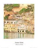 Vue de Malcesinesur le lac de Garde, 1913 Affiches par Gustav Klimt
