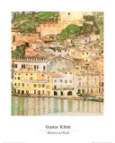 Malcesine ved Gardasjøen Posters av Gustav Klimt