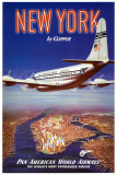 New York en clipper Affiches