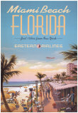 Miami Beach Posters van Kerne Erickson