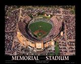 Memorial-Stadion: Letztes Spiel der Orioles Poster von Mike Smith