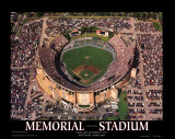 Memorial Stadium: Final Orioles Game Poster by Mike Smith