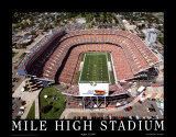 Mile High Stadium - Denver, Colorado Prints by Mike Smith