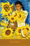 Muchacha Con Girasoles Affiches par Diego Rivera