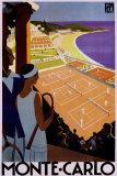 Reclameposter racewagens Monte Carlo Posters van Roger Broders