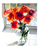 Mixed Carnations in Window Giclee Print by Elaine Plesser