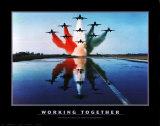 Samen werken, bemanning op zeiljacht, met Engelse tekst: Working Together Posters