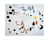 Mujer Sonando en su Evansion, c.1945 Posters af Joan Miró