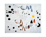 Mujer Sonando en su Evansion, c.1945 Poster von Joan Mir&#243;