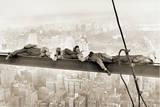 Arbeiter auf einem Stahlträger, 1930 Kunstdruck