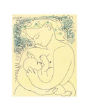 Maternity, Signed & Dated 1899 Reproducción por Pablo Picasso