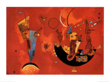 Voor en tegen, ca.1929 Print van Wassily Kandinsky