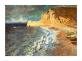 Morning at Etretat, c.1883 Art by Claude Monet