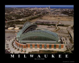 Milwaukee Brewers - Miller Park Print by Mike Smith