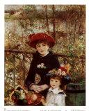 Sur la terrasse Posters par Pierre-Auguste Renoir