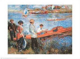Oarsmen at Chateau, 1879 Affiche par Pierre-Auguste Renoir