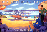 Palm Beach Aero Poster par Kerne Erickson
