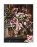 Peonies, Lilacs and Tulips Posters by Pierre-Auguste Renoir