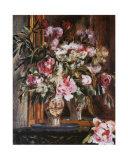 Peonies, Lilas and Tulips Pósters por Pierre-Auguste Renoir