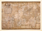 Weltkarte Kunst von Gerardus Mercator