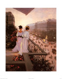 On the Balcony Prints by Christa Kieffer