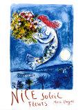 Niza, sol y flores Láminas por Marc Chagall