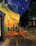 O Café Terrace na Praça do Fórum, Arles, à noite, cerca de 1888 Pôster por Vincent van Gogh