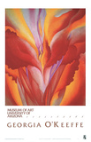 Rote Canna Kunstdrucke von Georgia O'keeffe