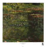 Pool with Waterlilies, 1904 Art by Claude Monet