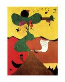 Retrato de la señora Mills Lámina por Joan Miró
