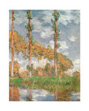 Poplars at Giverny Posters by Claude Monet
