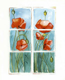 Poppies at the Window Prints by Sonia P.