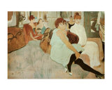 Salon in Rue des Moulins Prints by Henri de Toulouse-Lautrec