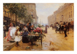 Rue Royale Paris Psters por L. Shryver