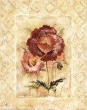Resplandor de rosa (con reborde) Arte por Richard Henson
