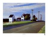 La Route 6, Eastham Stampe di Edward Hopper